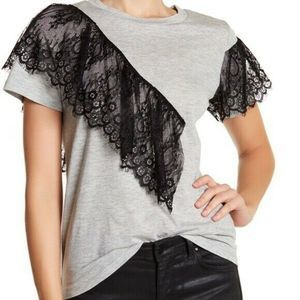 Ten Sixty Sherman top lace short sleeve tee shirt
